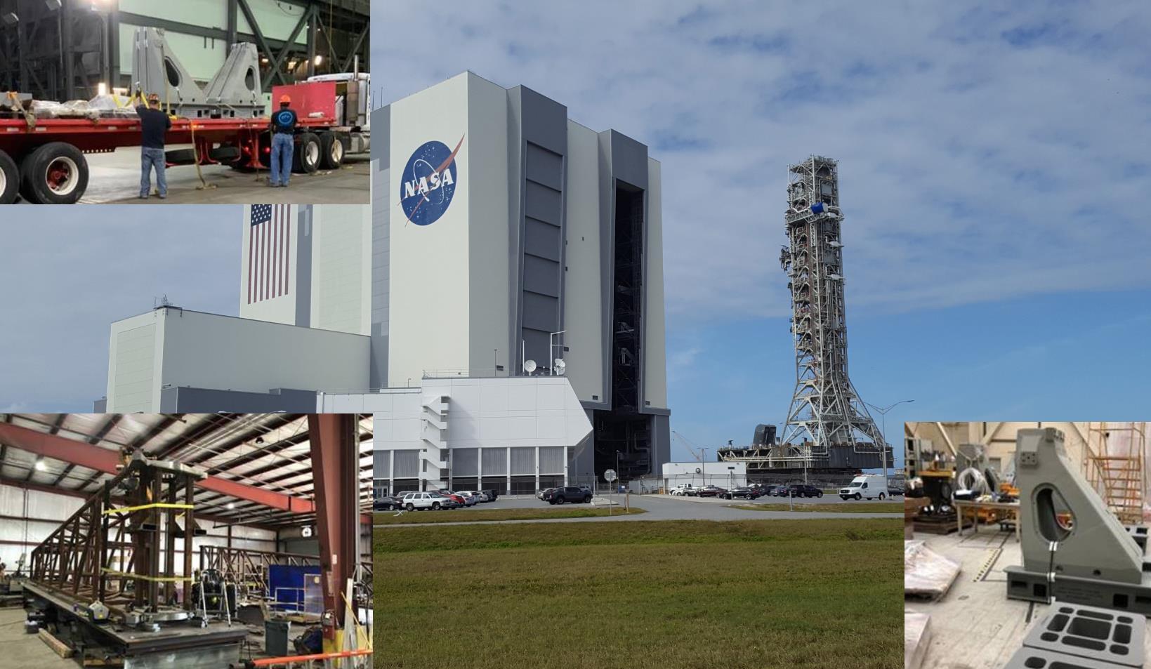Second SLS Mobile Launcher preps for construction as hardware arrives at KSC