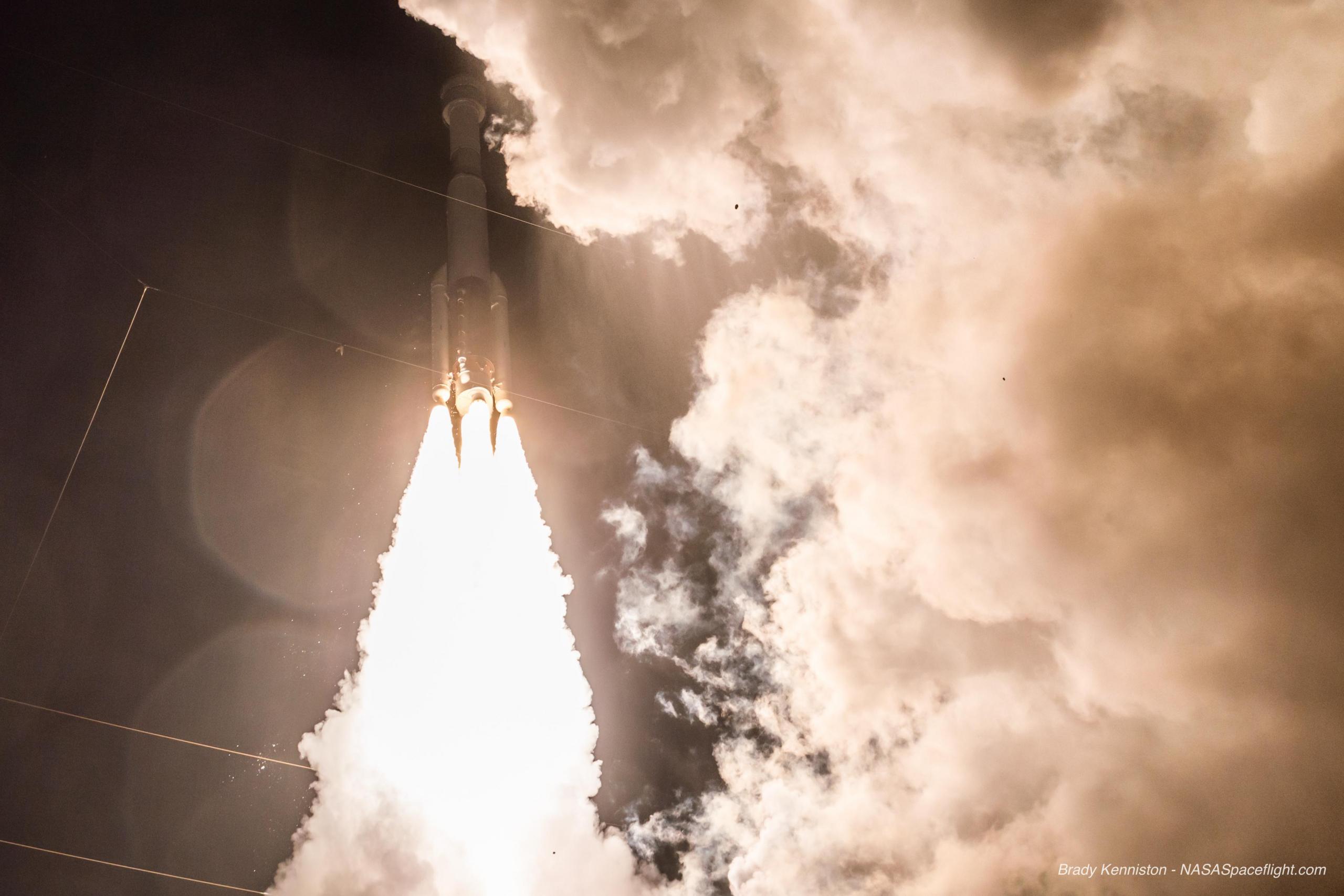 Starliner Calypso lifts off aboard its Atlas V launcher on the Orbital Flight Test – via Brady Kenniston for NSF  L2