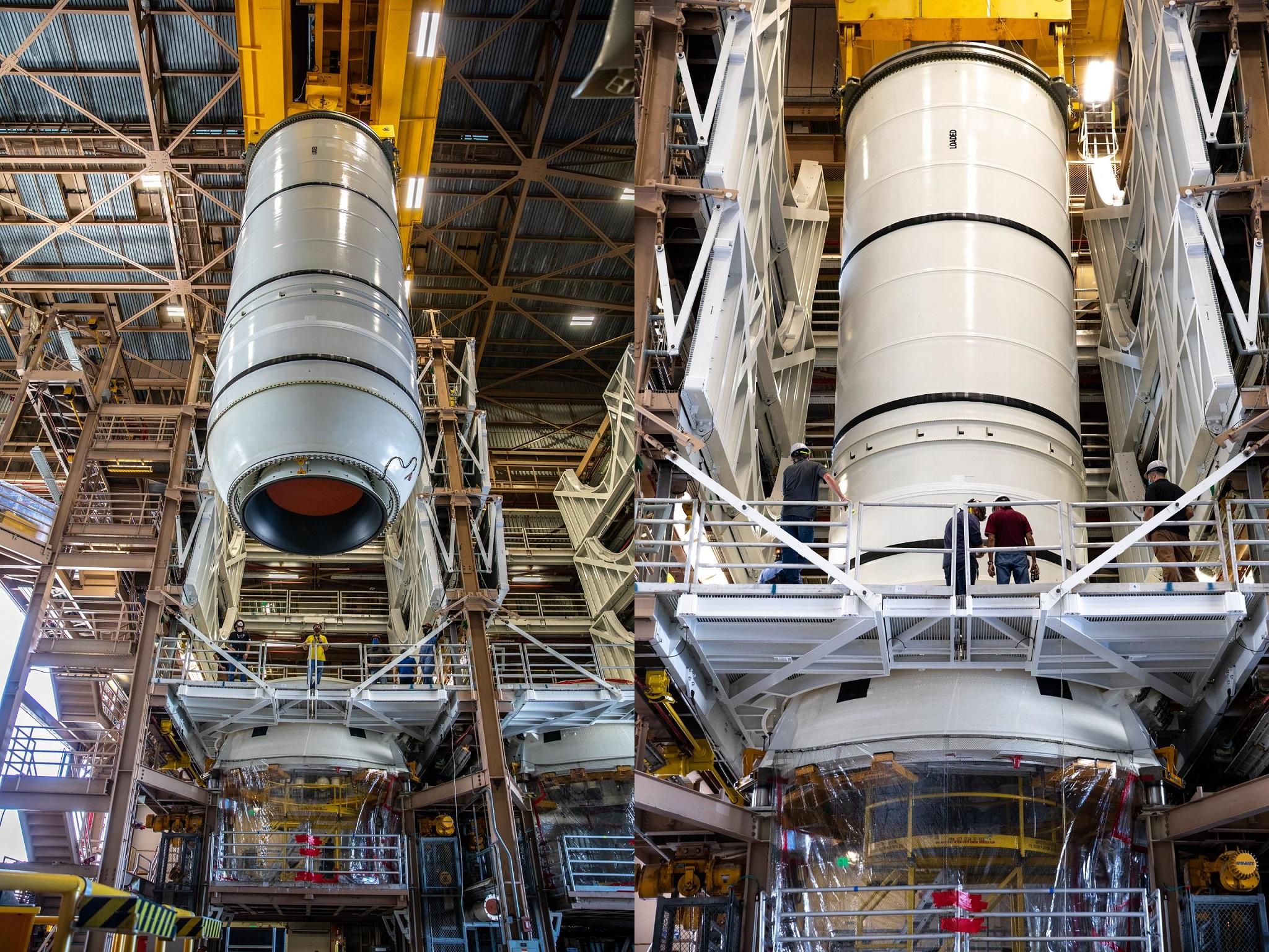 EGS, Jacobs begin SLS booster build up for Artemis 1