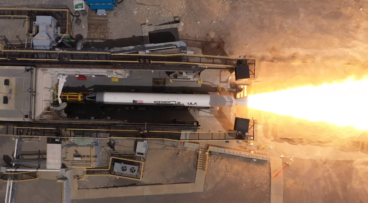 Northrop Grumman test fires first GEM-63XL motor for ULA's Vulcan - NASASpaceflight.com