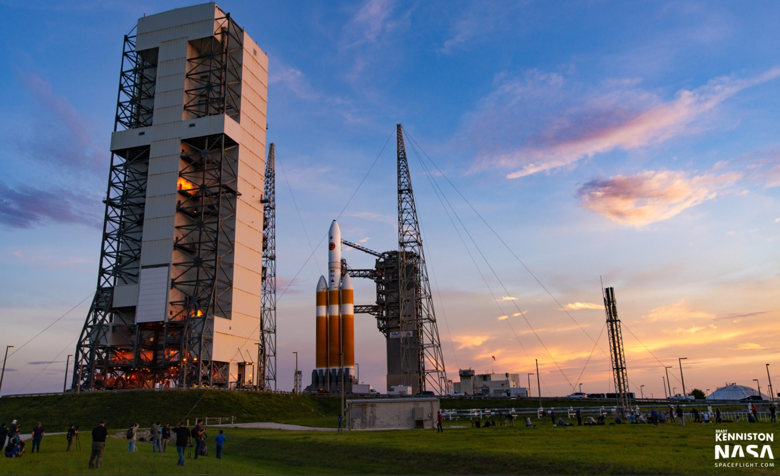 Payload stacked for NROL-44; ULA, SpaceX win NSSL awards