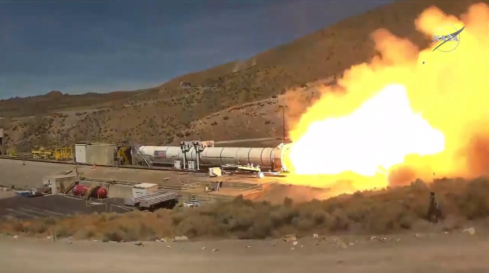 NASA Test Northrop Grumman Booster Chosen to Power SLS Rocket