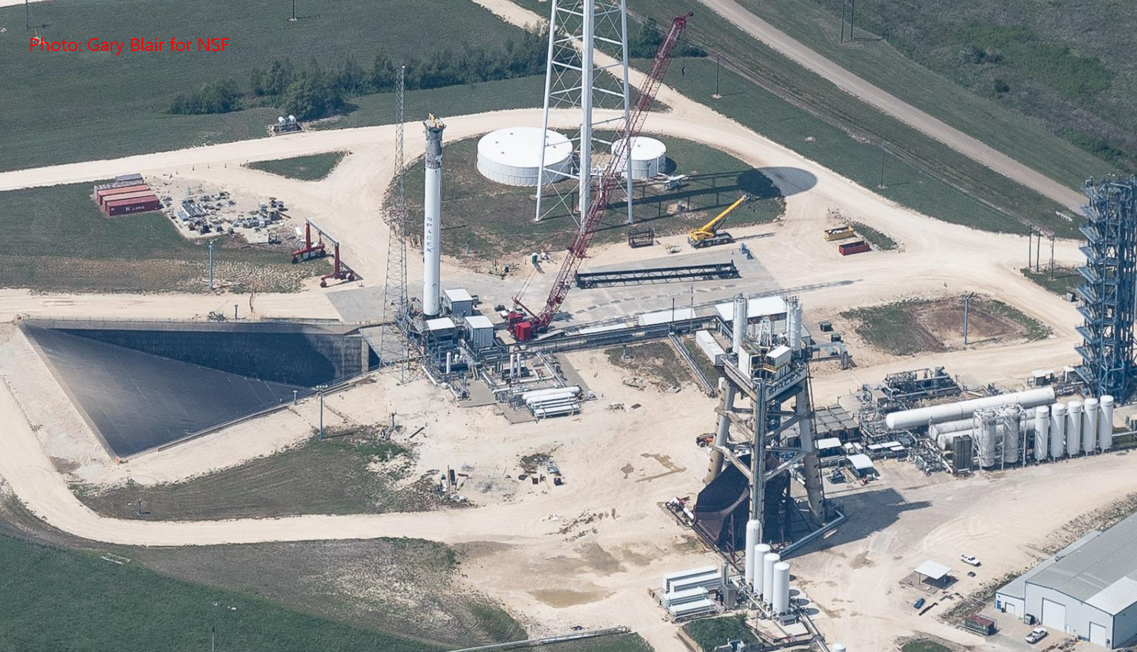 SpaceX Manifest Takes Shape as Falcon Heavy Hardware Arrives at McGregor