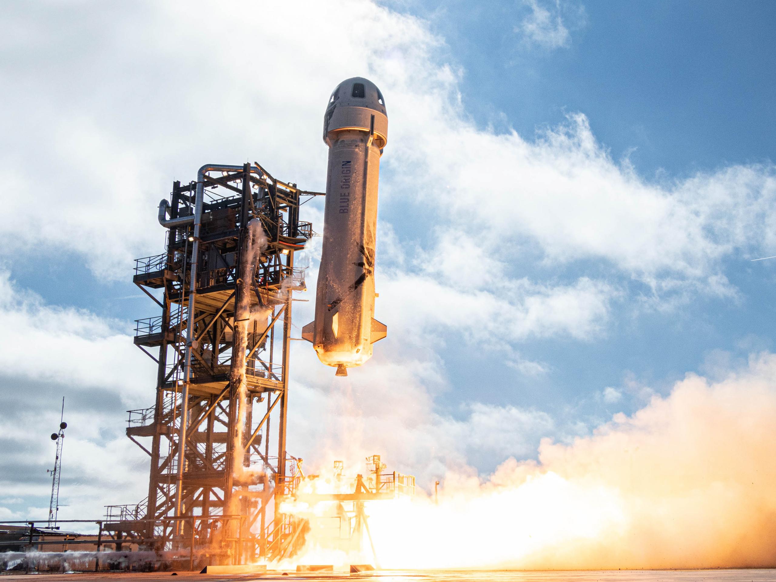 Blue Origin scrubs test of NASA landing system hardware on latest New Shepard flight