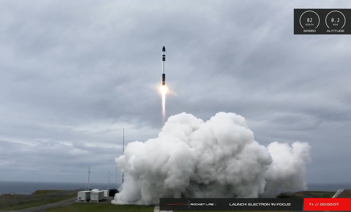 """Rocket Lab launches """"In Focus"""" mission for Planet, Canon imaging satellites"""