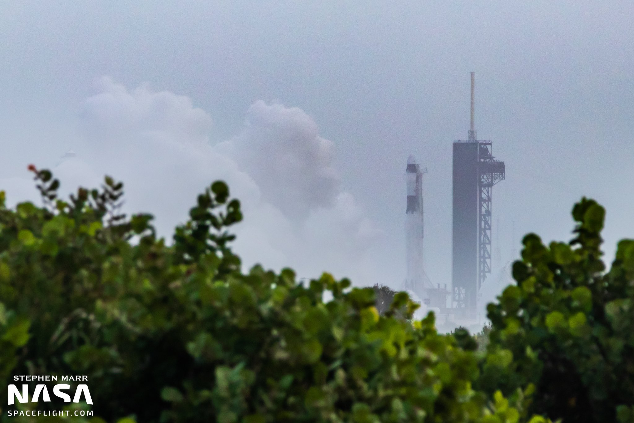 SpaceX conducts static fire test on Falcon 9 for Crew-1 mission