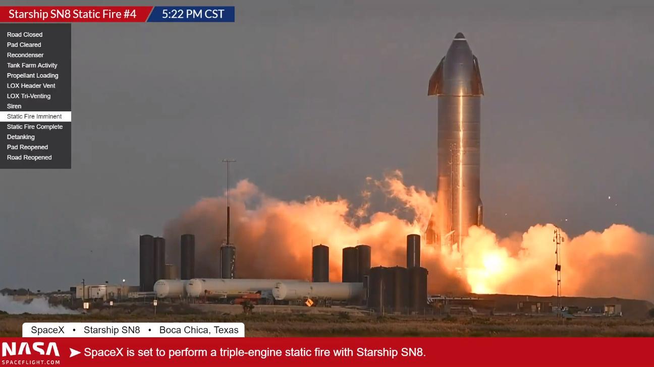 Starship SN8 ready for final testing ahead of flight - NASASpaceflight.com