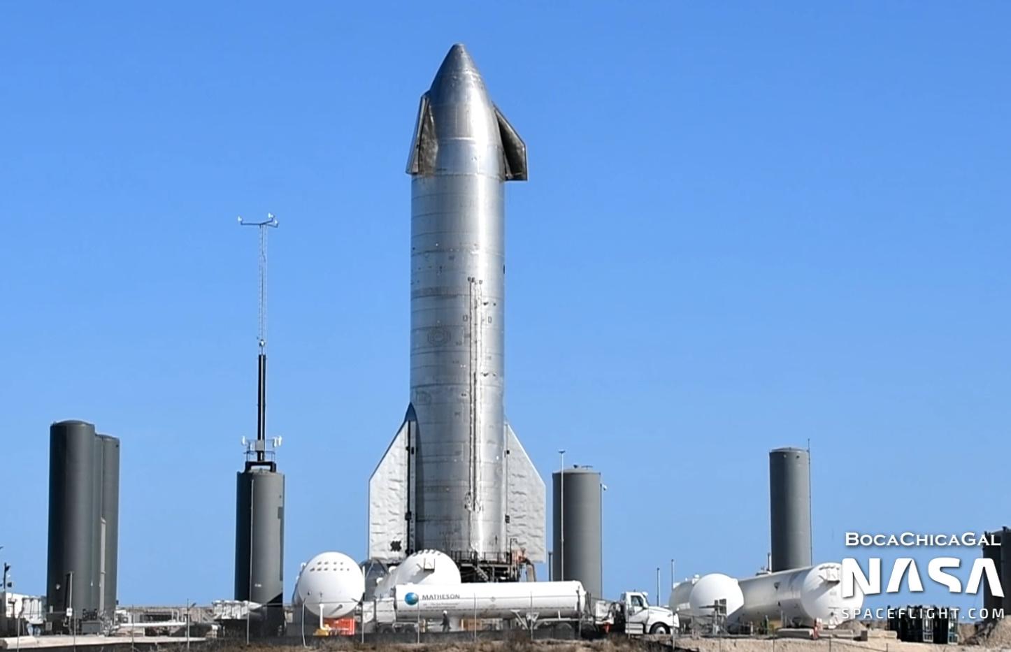 Starship SN10's Raptors installed ahead of testing and refined landing attempt - NASASpaceFlight.com - NASASpaceflight.com