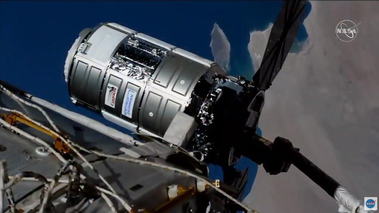 Northrop Grumman's S.S. Katherine Johnson arrives at the ISS