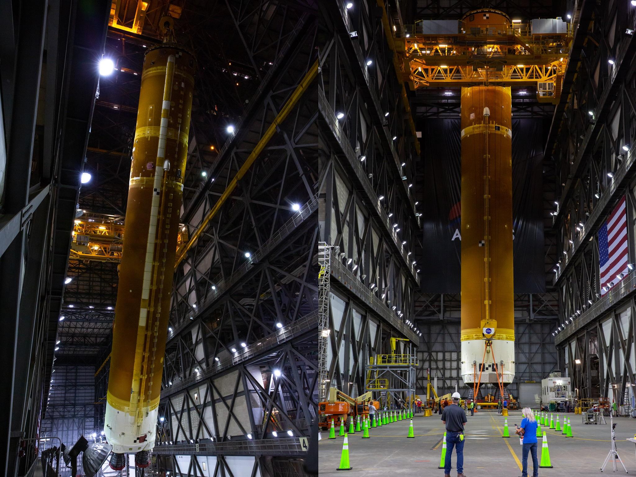 EGS starts Artemis 1 SLS Core Stage lift