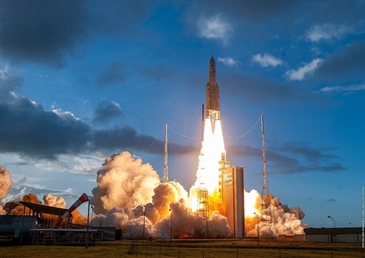 Ariane 5 lofts two satellites in important lead-up to James Webb launch