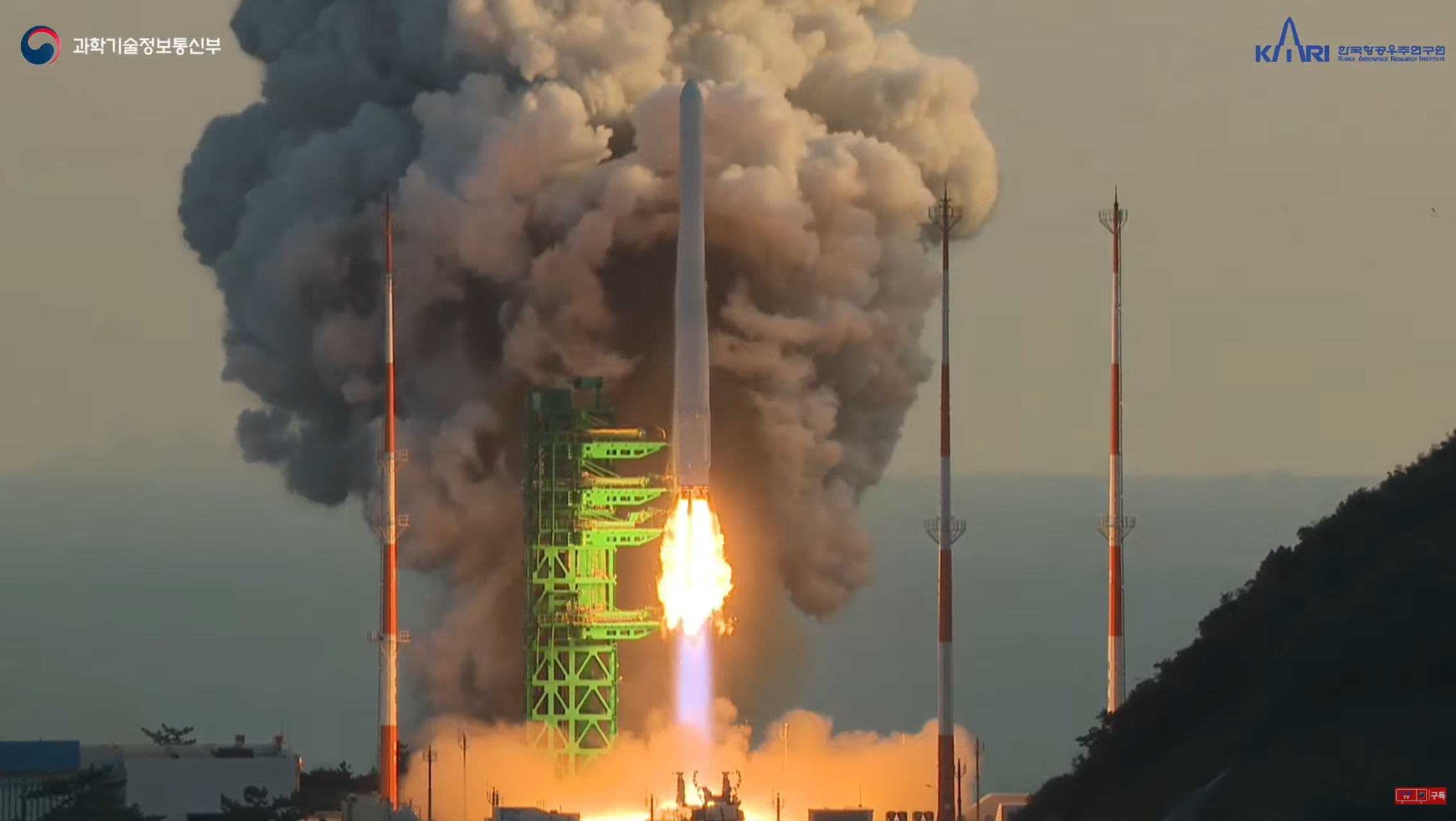 South Korea's KSLV-II conducts maiden launch